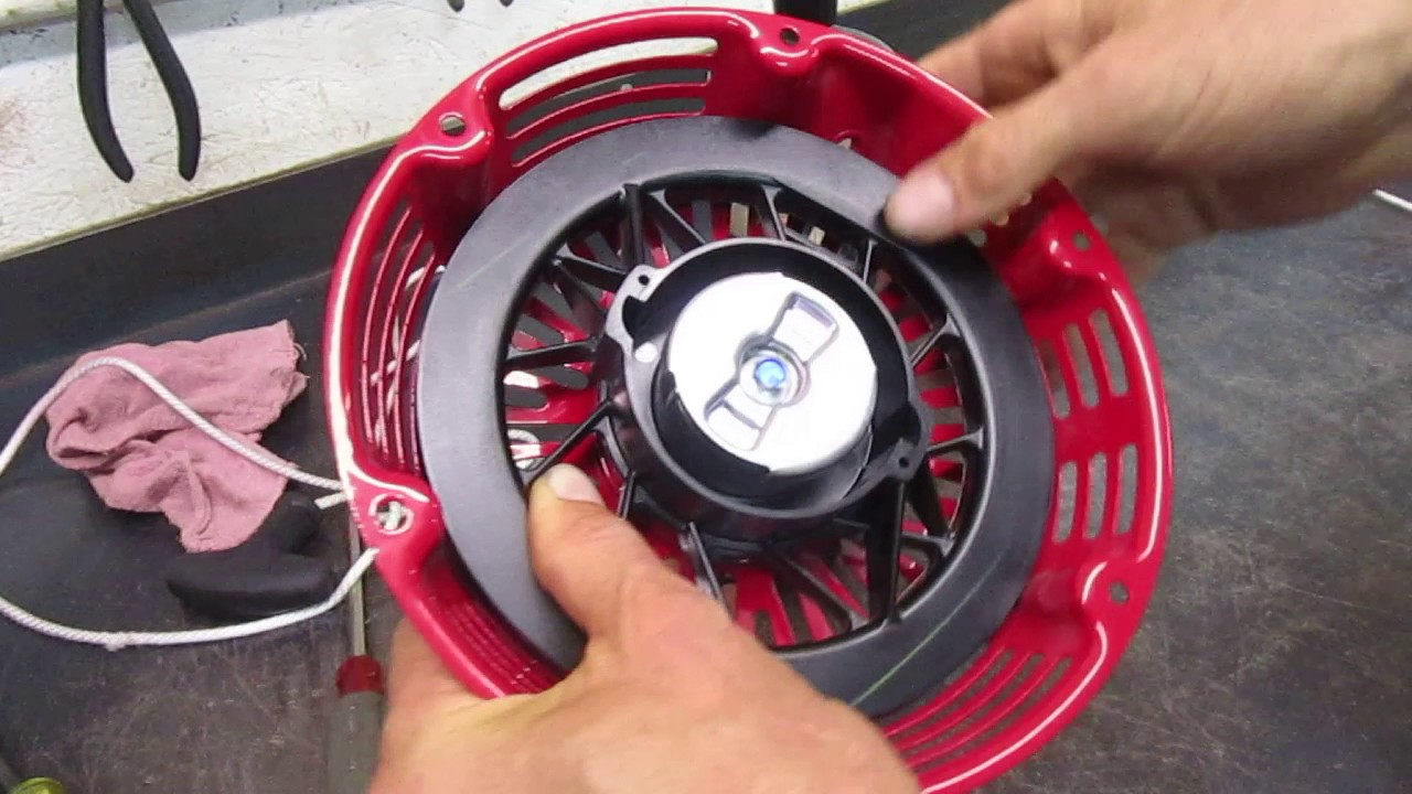 Recoil Starter rope replacement for Honda & other small engines - YouTube