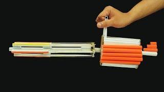 DIY Paper Gun! - How to Make a Paper Minigun that Shoots (Jason DIY Projects)