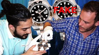 Reloj de $300,000 VS $3,000 / ¿VALE LA PENA COMPRAR RELOJES ROLEX FAKE?