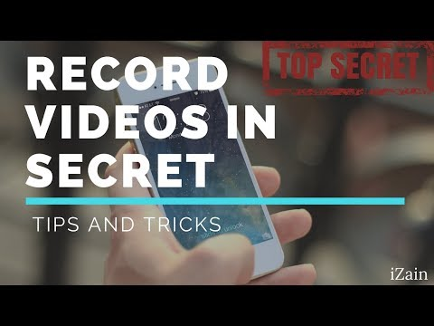How to record videos in secret iOS 10 and 11.