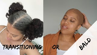 TRANSITIONING TO GREY NATURAL HAIR - I'M CUTTING MY HAIR IN 3 MONTHS// Samantha Pollack