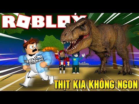 Roblox   CỨU VỚI THỊT CỦA KIA KHÔNG CÓ NGON ĐÂU - Dinosaur Hunter   KiA Phạm
