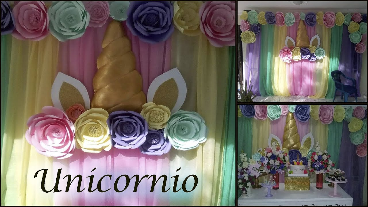 Decoraci n unicornio youtube for Decoracion con plantas para fiestas