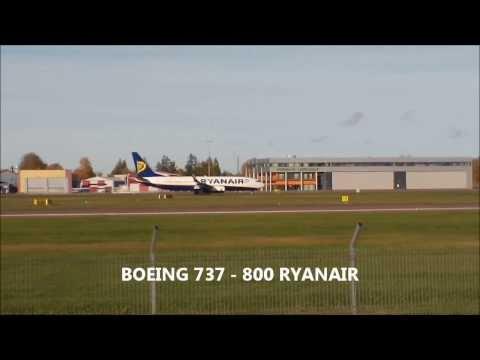 BOEING 737 800 RYANAIR TAKE OFF @ Lennart Meri Airport, Tallinn, Estonia
