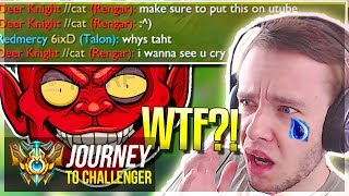I GET FLAMED SO F*KING HARD WTF?! - Journey To Challenger | League of Legends