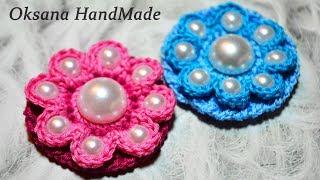 Цветы крючком  Мастер класс и схема. Simple crochet flowers