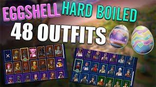 Eggshell | Hard Boiled Back Blings on 48 Outfits - Fortnite