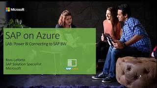 PowerBI Connectivity to SAP BW Lab