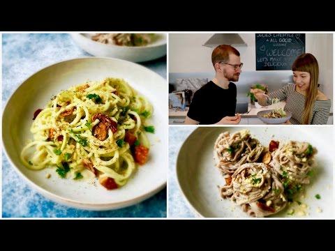 Vegan Spaghetti Carbonara |How to use a Spiralizer