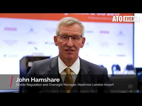 "John Hamshare, Heathrow London Airport at conference ""Ground Handling in Russia & CIS 2017"""