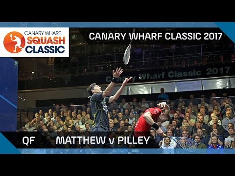 Squash: Matthew v Pilley - Canary Wharf Classic 2017 QF Highlights
