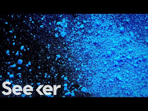 The Subatomic Challenge Behind Synthesizing the Color 'Blue'