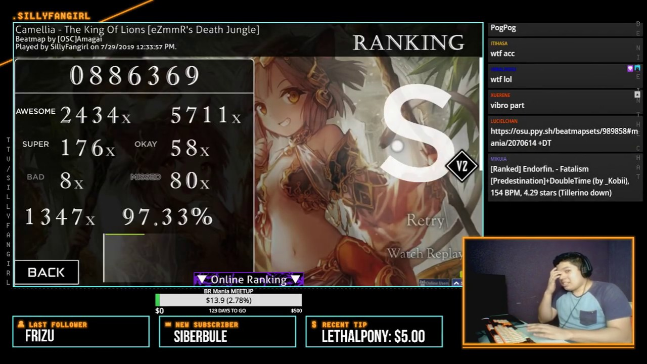 ☆9 56 The king of lions +SCORE V2 - 97 33% !!