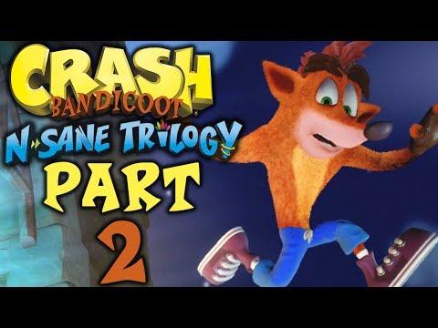 "Crash Bandicoot (N. Sane Trilogy) - Let's Play - Part 2 - ""Island 2: Missions 10-18"