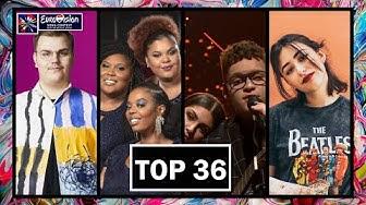 TOP 36 | EUROVISION 2020 | + FINLAND 🇫🇮, SWEDEN 🇸🇪, DENMARK 🇩🇰 & PORTUGAL 🇵🇹 | SO FAR