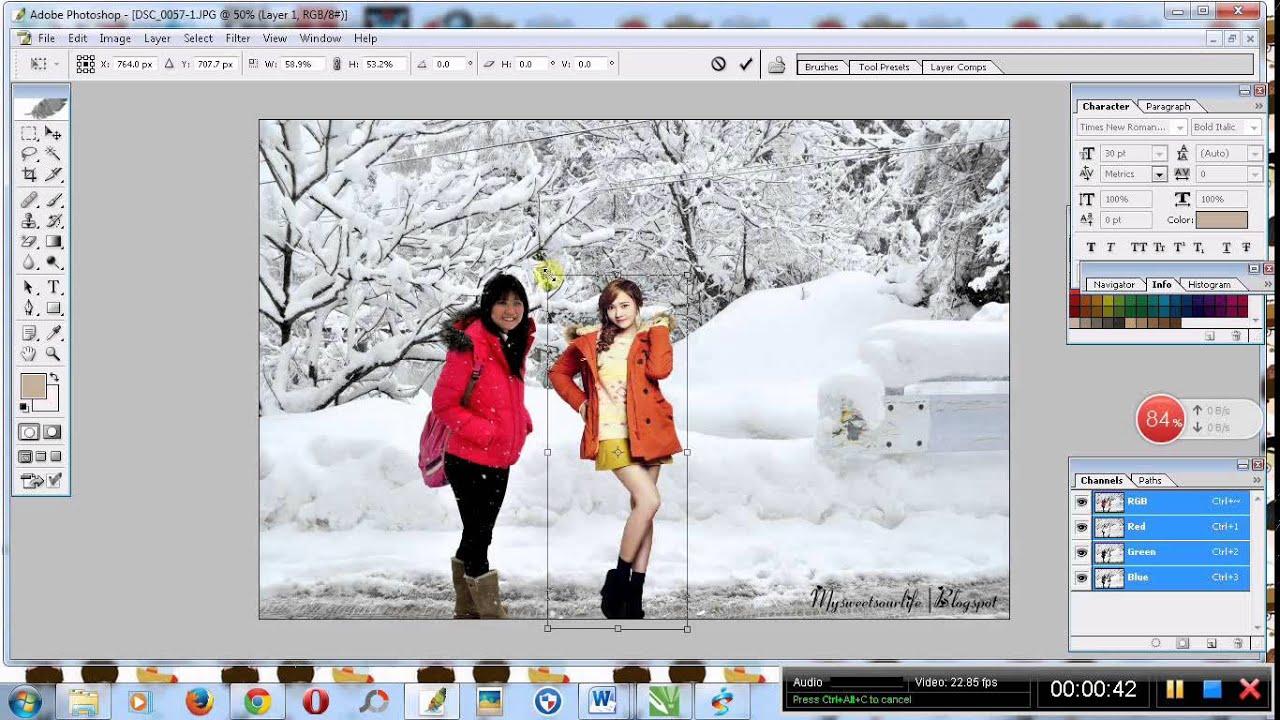 cara menambahkan gambar pada photoshop