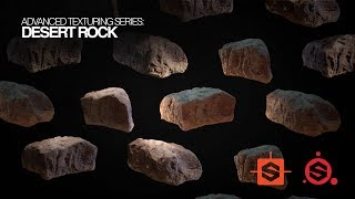 Texturing for Film and Games | Desert Scene Series - Desert Rock | Substance Painter