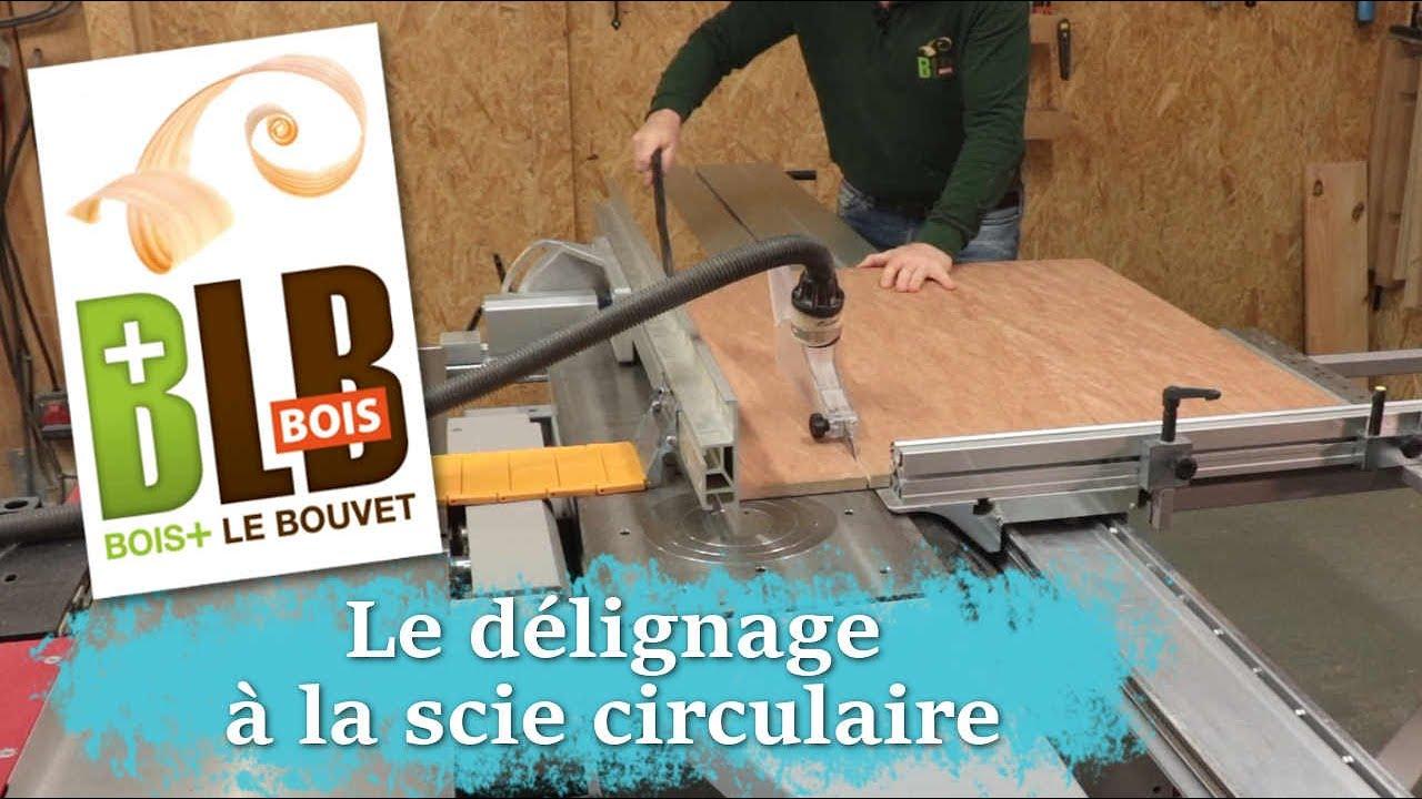 Le Delignage A La Scie Circulaire Sur Table Youtube
