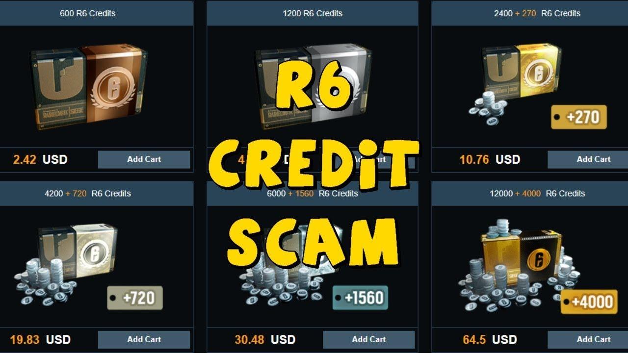 R6 CREDIT SCAM - RAINBOW SIX SIEGE