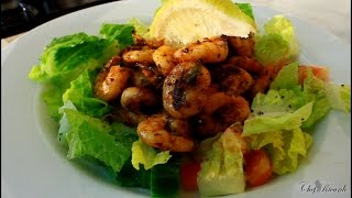 Jumbo King Prawn Salad From Summer Recipe [JAMAICAN CHEF RECIPE ]