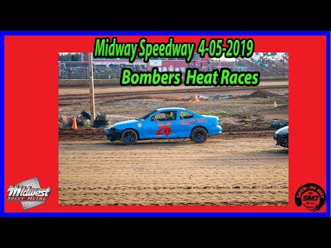 S03 E158 Bombers Heat Races 4-06-2019 Opening Night Midway Speedway #dirttrackracing