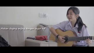 Cewek Cantik Nyanyiin Lagu Sayur Kol | Punxgoaran - Sayur Kol Cover