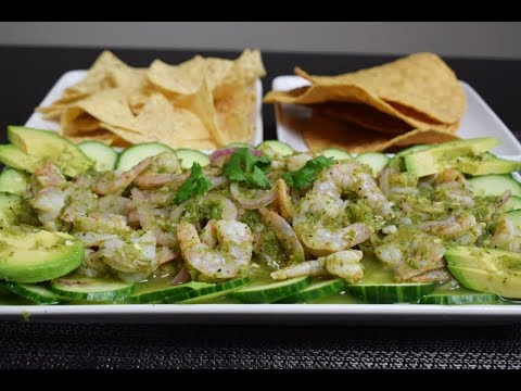 "Mexican Recipe, Aguachiles ""Shrimp in Serrano Sauce"", easy delicious"