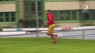 قناة لخويا | الظهور الأول للنجم المغربي يوسف العربي في تدريبات الفريق