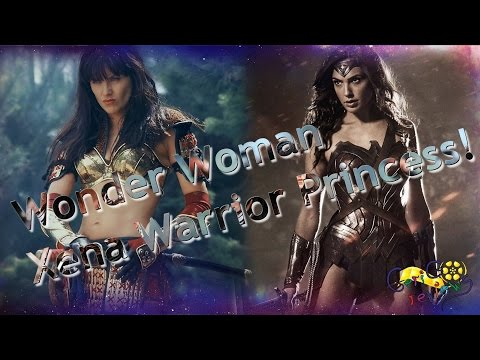 Wonder woman and Gal Gadot in the outfit plus Xena Warrior Princess talk
