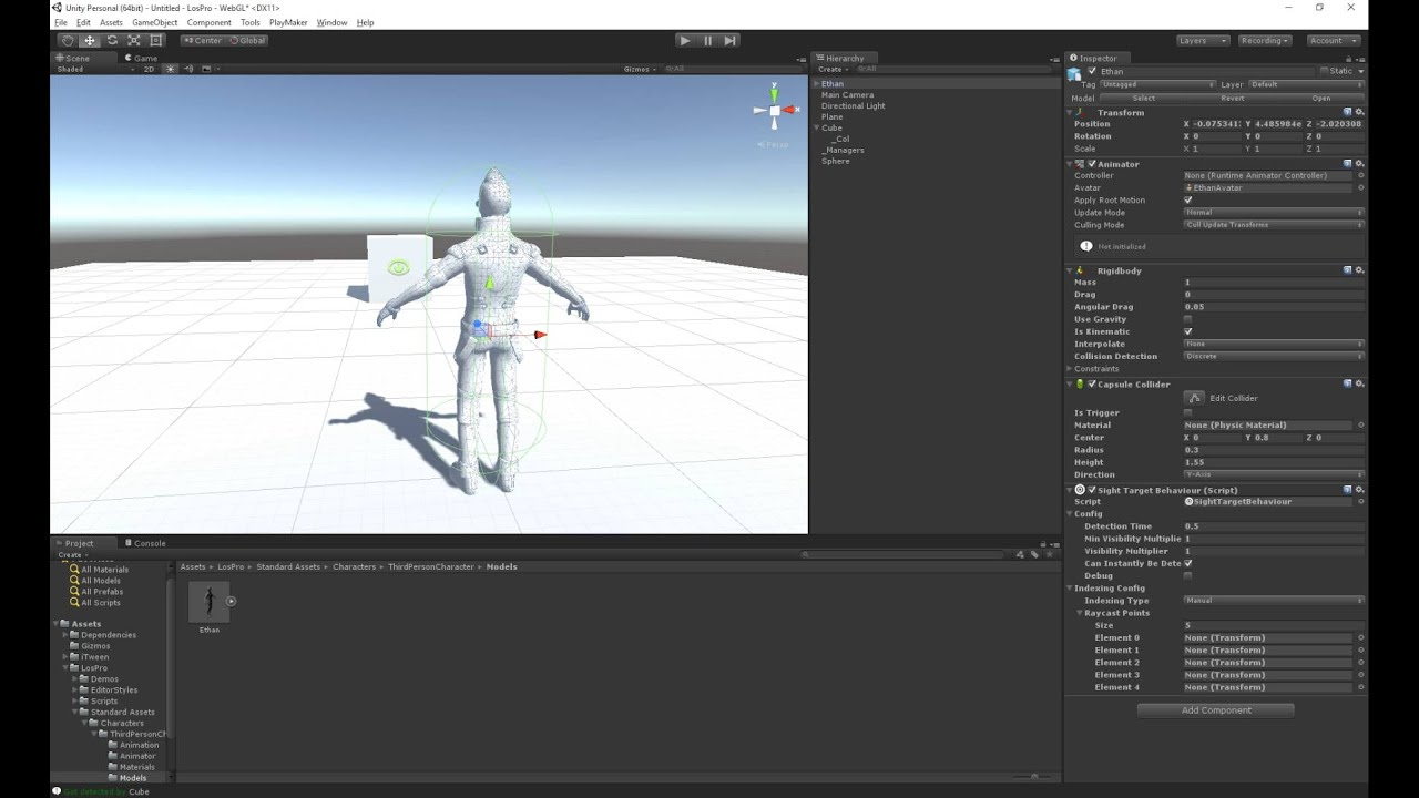 Unity - Los Pro - Skinned meshes