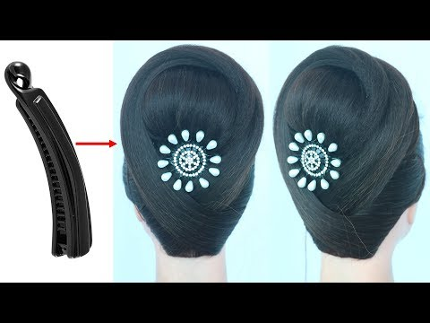 new hairstyle with banana clutcher    teen hairstyle    new hairstyle for girls    hair style girl thumbnail