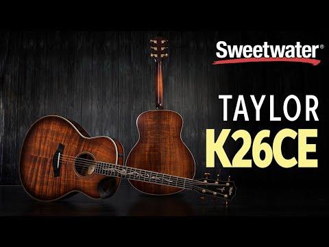 Taylor K26ce Acoustic-electric Guitar Demo