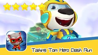 Talking Tom Hero Dash Run Day158 Walkthrough Endless runner Save the world Recommend index five star