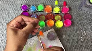 MIXING AND SWATCHING COLORED ACRYLIC/PIGMENTS -KeishaShonta