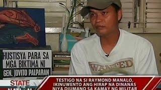 SONA: Jovito Palparan, itinuturo ring nasa likod ng ilang kaso ng human rights violation