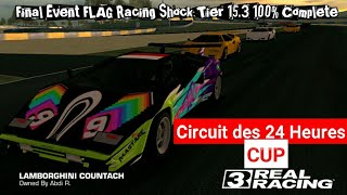 Real Racing 3 Lamborghini Countach Final Event FLAG Racing Shocks TIER 15.3 100% Complete