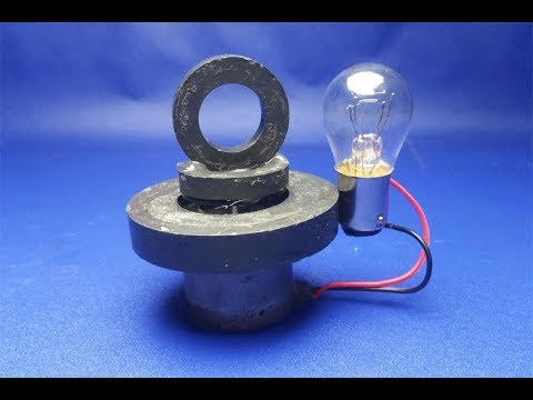 dc motors with magnet , Free energy light bulb generator