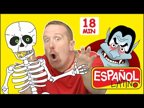 Canciones E Historias De Halloween + MÁS | Juego Del Escondite | Steve And Maggie Español Latino