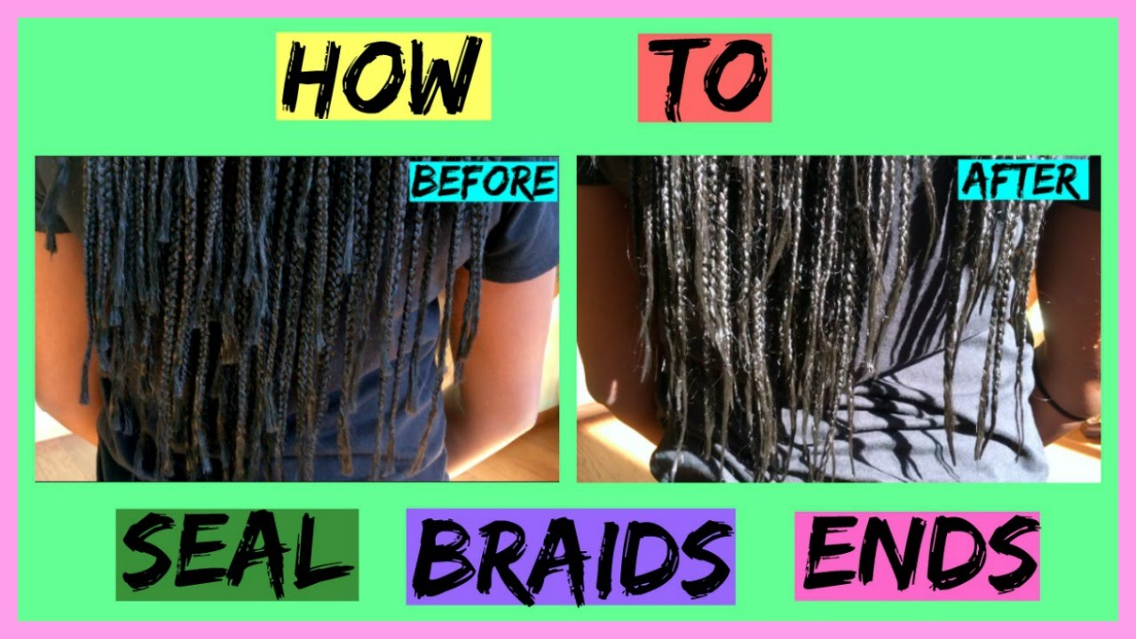HOW TO SEAL THE ENDS OF BOX BRAIDS (FOR BEGINNERS) | Funke Remi