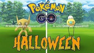 Shiny Sableye and Drifloon Pokemon GO Halloween!