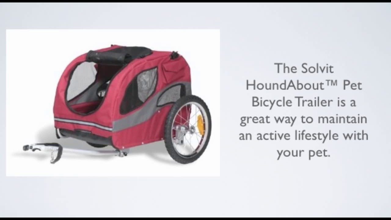 Solvit Hound About Bicycle Trailer Reviews Youtube