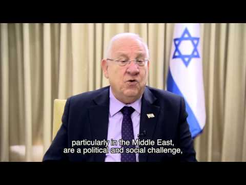Israel's president Reuven Rivlin's blessings for the Arava Institute