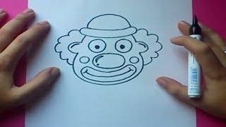 Como dibujar un payaso paso a paso   How to draw a clown