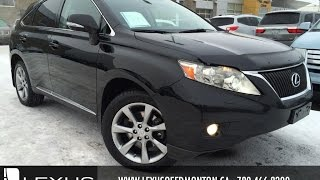 Used Black 2010 Lexus RX 350 AWD Review | Airdrie Alberta