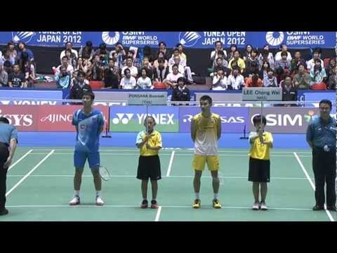 F - MS - Lee Chong Wei vs Boonsak Ponsana - 2012 Yonex Open Japan