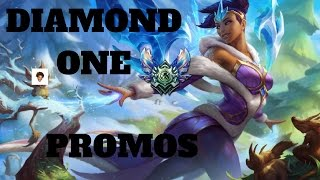 DIAMOND ONE PROMOS!?!?!? Road To Masters #2 Support Main S7 - League of Legends
