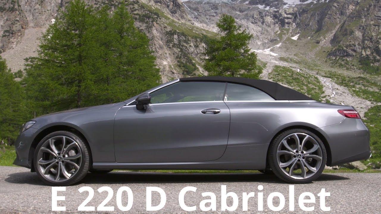 2017 mercedes e 220 d cabriolet color selenite grey youtube. Black Bedroom Furniture Sets. Home Design Ideas