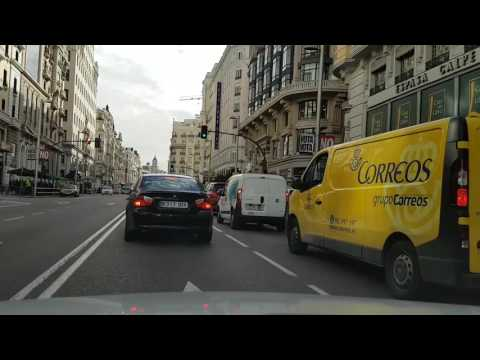 Driving Madrid. De Moncloa a Cibeles. Centro.