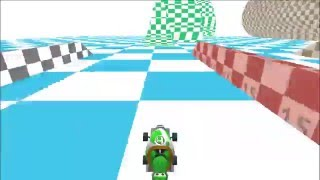 Mario Kart DS ~ Test1_Course Restored Beta Model in Final Game