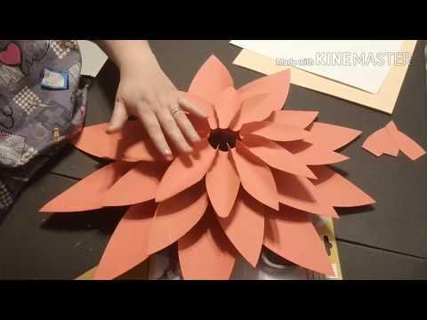 Paper Flower Tutorial/ Jumbo flower